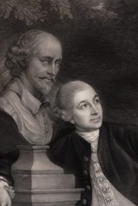 David Garrick with a Bust of Shakespeare